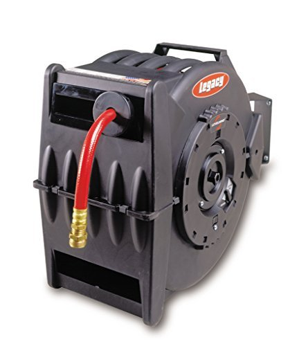 Legacy L8335 Levelwind 1/2 x 50' Retractable Air Or Water Hose Reel by Legacy Manufacturing (Reel Levelwind Hose Retractable Air)