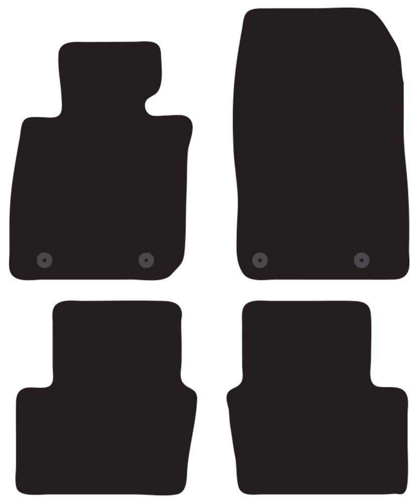 Borde Bicolor talonera de Goma Reforzada Negra Il Tappeto Auto SPRINT01014 Antideslizante Alfombrilla para Coche