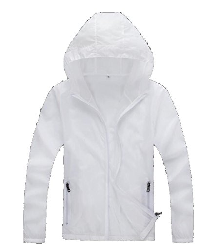 Mens Dry Quick Gocgt White Skin Jackets Windproof Coat Hooded UV Protection Sun dw8Cqx