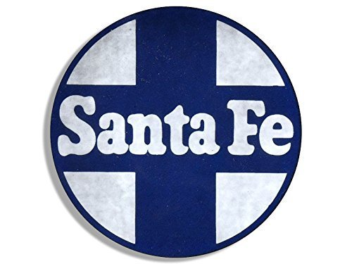 GHaynes Distributing Round VINTAGE Santa Fe Railroad Sticker Decal (rr railway rail logo) 4 x 4 inch