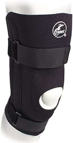 Cramer Diamond Knee Stabilizer, Padded Knee Brace for ACL & MCL Support, Brace for Knees for Sports, Arthritis, & Injury Recovery, Adjustable Knee Brace with Straps & Open Knee Cap for Patella, Black
