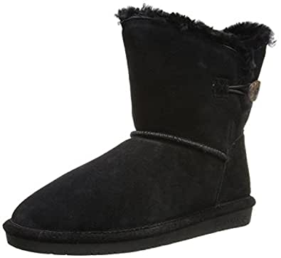 BEARPAW Women's Rosie Snow Boot,Black,5 ...