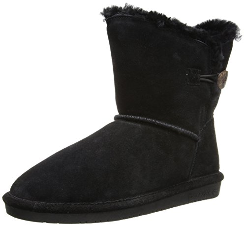 BEARPAW Women's Rosie Winter Boot, Black, 8 M US]()