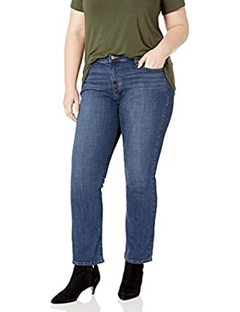 Levi's Women's Plus Size 414 Classic Straight Jean's, Oak Blues, 38 (US 18) R
