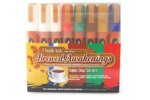 Chalk Ink 6mm Brewed Awakening Wet Wipe Markers, 8-Pack
