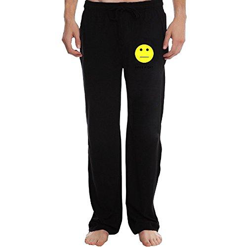 ZOENA Best Emoji Have A Day Workout Pants For Men Black Size XXL