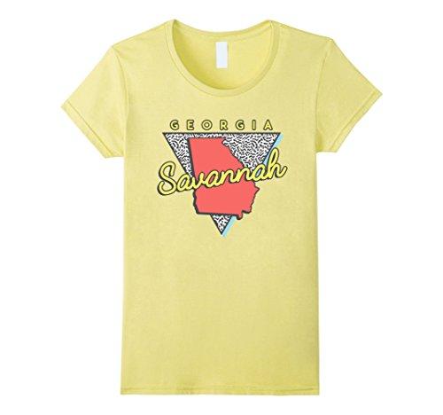 Womens Savannah Georgia T Shirt Retro Triangle GA Large - Women Savannah Ga