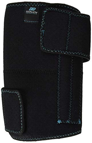 DonJoy Advantage DA161KW01-BLK Knee Wrap with Stays for Medial, Lateral Support, Sprains, Strains, Swelling, Stiffness, Arthritis, Adjustable Neoprene Fabric fits Left, Right, 13