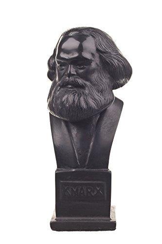 Büste Karl Marx Figur aus Alabastergips 18,5 cm
