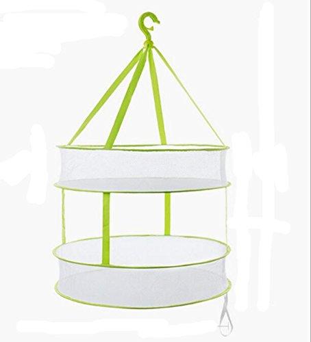 Foldable Hanging Drying Rack Collapsible Mesh Basket Dryer N