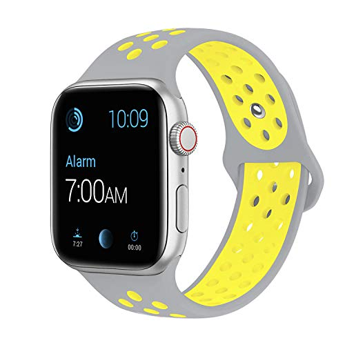 SMEECO Compatible with iWatch Band 38mm 40mm S/M,Soft Breathable Silicone Strap Replacement iWatch Bands for iWatch Series 4,Series 3, Series 2, Series 1 Sport Nike