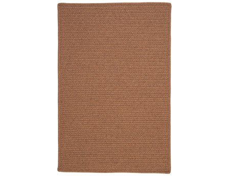 (Colonial Mills Westminster Square 8' Braided Modern Area Rug In Brown Solid)