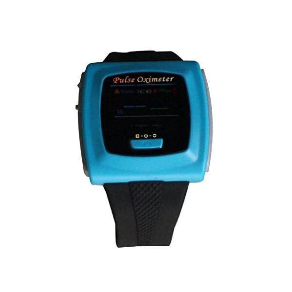 BLYL Muñequera CMS-50F Monitor de Saturación de Oxígeno y Medición de la Frecuencia Cardíaca con Pantalla OLED para la Salud Deporte, Cuidado de la Salud en el Hogar, Azul OXIMETER 10