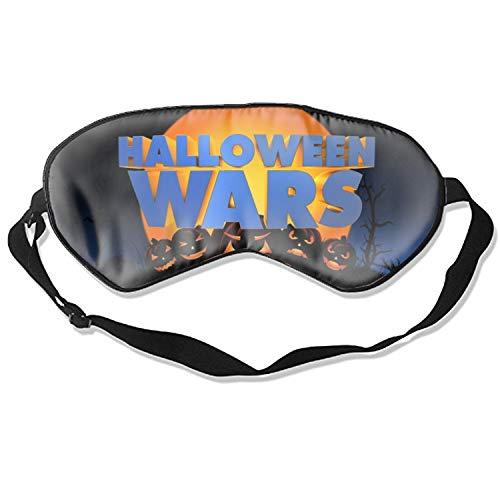 Soft Comfortable Eye Mask Halloween Wars Sleep Mask with Adjustable Strap for Woman Man Eyes Sleeping Travel Nap
