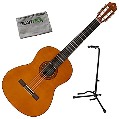 Yamaha CGS104AII Full-Size Spruce Top Classical Guitar Bundle with Stand and Clo