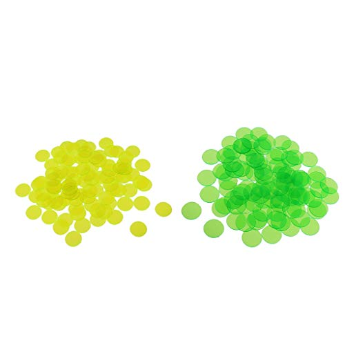 B Baosity 約200個 半透明 ビンゴチップ ビンゴゲーム用