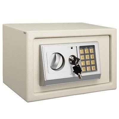 "12"" Electronic Safe Box Digital Security Keypad Lock Office Home Hotel White New"