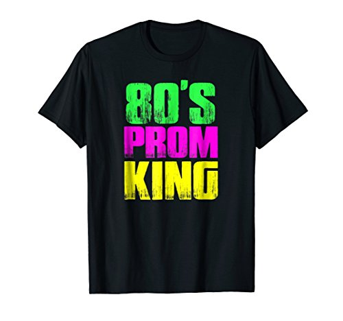 Mens 80's Prom King Eighties Neon Party Shirt Costume 3XL Black