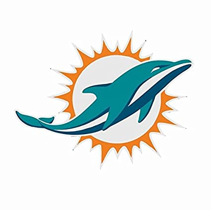 65029b06 Amazon.com: Miami Dolphins NFL Football Color Logo Sports Decal ...