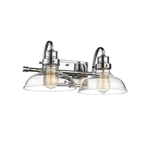 Millennium 2312-CH Restoration Two Light Vanity in Chrome, Pol. Nckl.Finish