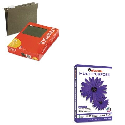 KITUNV14115UNV95400 - Value Kit - Universal Multipurpose Paper (UNV95400) and Universal Hanging File Folders (UNV14115) by Universal