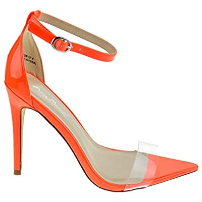 Anne Michelle Exception 10 Womens Single Band Open Toe Platform Heeled Dress Sandals | Pumps