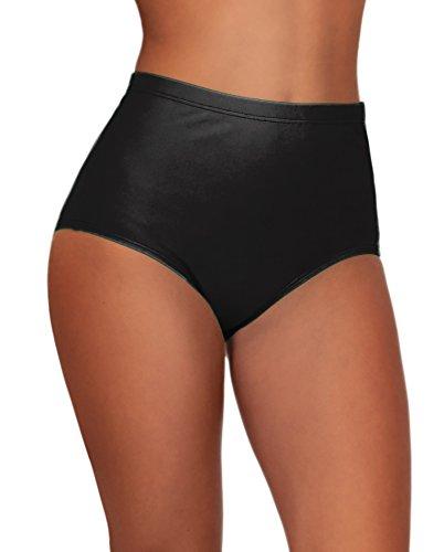 Junior Black Single Item High Waisted Separate Bikini Bottoms