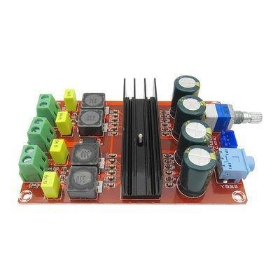 1PCS 2 100W digital power amplifier board 12V-24V wide voltage TPA3116D2 two-channel amplifier board amplifier module by Dong Yu Yuan