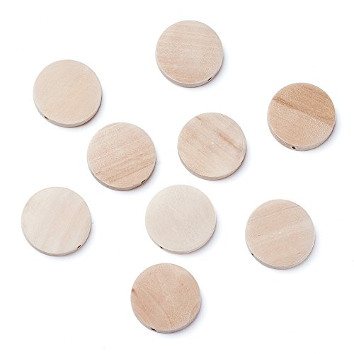 Wood 1 Large Bead - Kissitty 50Pcs Lead Free About 1