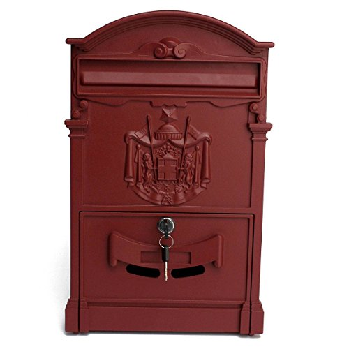 Outside Mailbox Lockable Letterbox 41x25x8cm