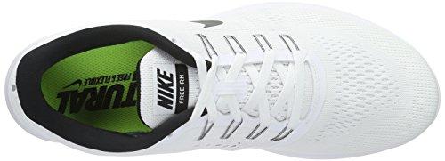 Nike Herren Free RN Laufschuhe Weiß (Weiß/Schwarz)