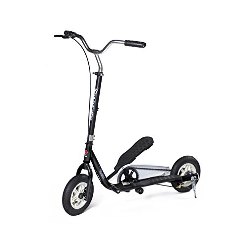 (Bike Rassine Ped-Run Teens Pedaling Scooter - Black)