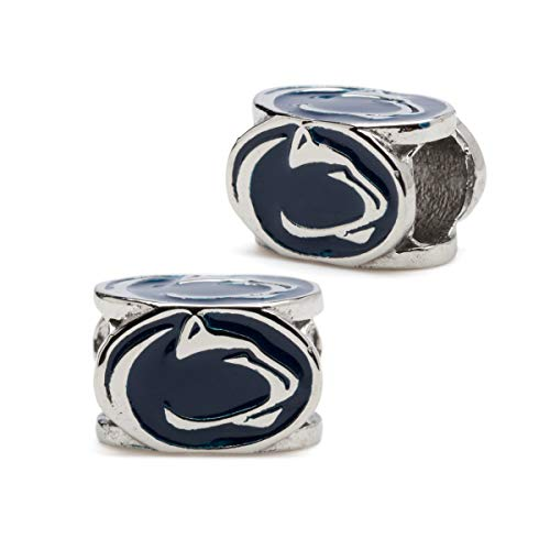 Penn State Charms | Nittany Lions Bead Charms | Officially Licensed Penn State Jewelry | PSU Charms | Nittany Lions Bracelet Charms | Nittany Lions Gifts | Stainless Steel