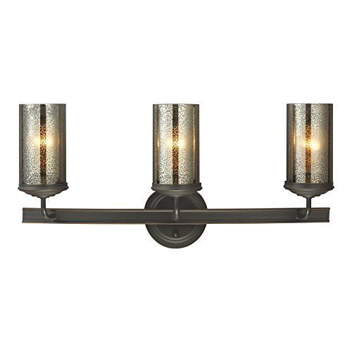Sea Gull Lighting 4410403-715 Sfera Three-Light Bath or Wall Light Fixture with Mercury Glass, Autumn Bronze - Wall Mercury Vanity