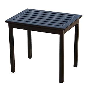 Southern Enterprises Hardwood Side End Table, Black Finish