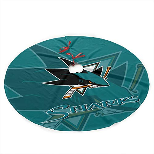 ViviHomeD San Jose Shadow Creative Christmas Tree Skirt]()
