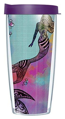 Mermaid Wrap Traveler 16 Oz Tumbler Mug with Lid