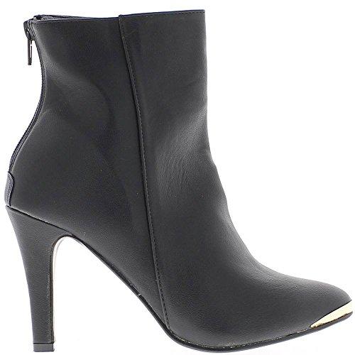 Botas de mujer negra en 9cm tacón puntiagudo