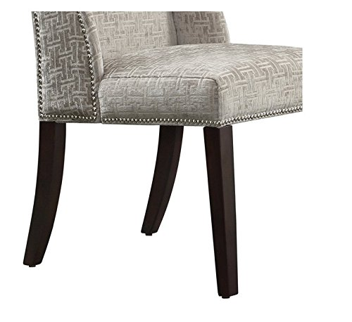 Amazon.com   INSPIRE Q Geneva Grey Link Wingback Contemporary Modern  Upholstered Hostess Chairs (Set Of 2)   Chairs