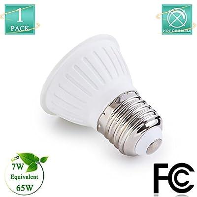 65Watt Halogen Flood Light Bulbs 120Volt 7W LED Lighting Bulbs E26 Base Spotlight Bulbs 120Degree Beam Angle 700Lumen Non Dimmable