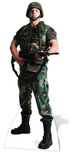 Soldier Cut Out - SC388 US Soldier Cardboard Cutout Standup