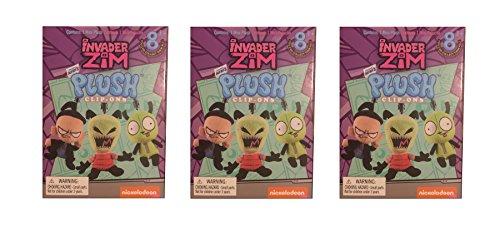 Nickelodeon Invader Zim Mini Clip On Blind Box Plush Figure, Pack of ()