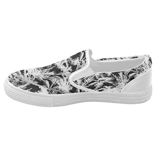 InterestPrint Custom Eiffel Tower Slip On loafers Women/'s Canvas Flat Shoes