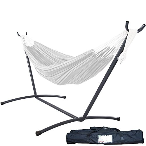 Lazy Daze Hammocks 9 feet Space Saving Steel Hammock Stand Portable Hammock Stand with Carrying Bag Only, Capacity 450 - Only Hammock