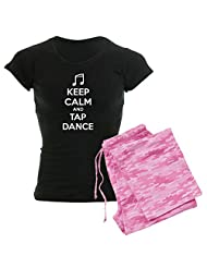 CafePress Women's Dark Pajamas - Keep calm and tap dance Women's Dark Pajamas