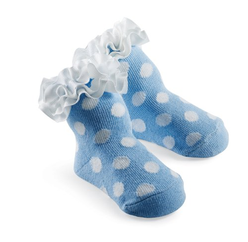 Mud Pie Princess Dottie Blue Sock