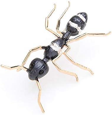 XZFCBH Black Ant Emaille Broschen Frauen Männer Alloy Big Insect Bankett Party Brosche Pins