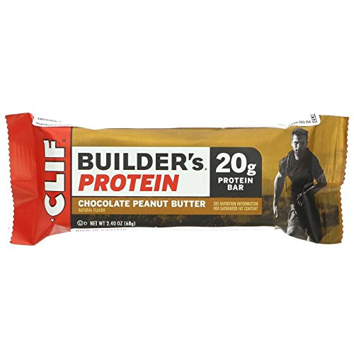 Clif Builder's Cocoa Dipped Double Decker Crisp Bar Chocolate Peanut Butter - 12 - 2.4 oz (68 g) bars [28.8 oz (816 g)] by Clif (Clif Builders Bar Chocolate)