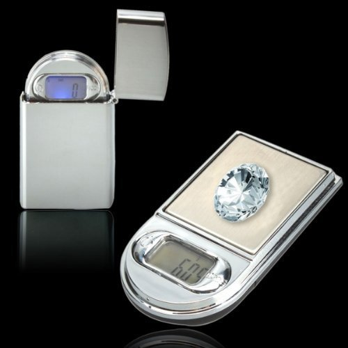 200g x 0.01g Lighter Style Portable Digital Pocket Jewelry Scale 9015 Silver / Max Weight : 200g by Follsy