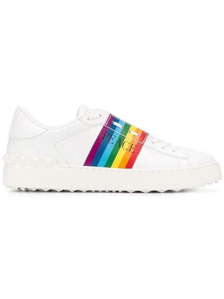 - VALENTINO Women's RW2S0781ZANGU8 White Leather Sneakers
